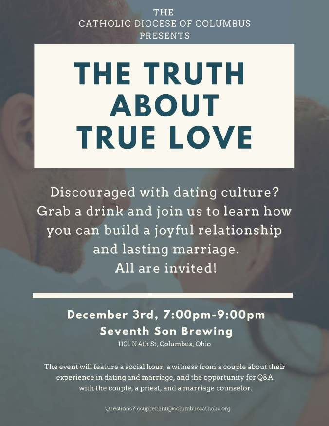 The Truth About True Love Diocesan Young Adult Event 12/3/18
